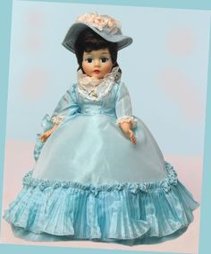 PORTRETTE RENOIR IN BABY BLUE TAFFETA. MADAME ALEXANDER. MINT - ALL ORIGINAL. PERFECT DARK BRUNETTE HAIR IN ORIGINAL SET. DOLLS ON REVIEW. | eBay!
