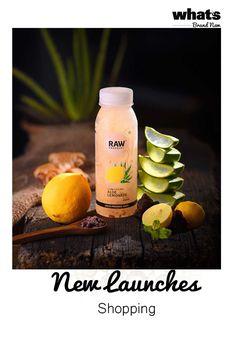 Aloe Vera Lemonade Raw Pressery soothes the skin, heals the gut and keeps the body cool. Juice Ad, Juice Store, Raw Juice, Kombucha, Watermelon Mojito, Food Flatlay, Milk Packaging, Juice Branding, Veggie Juice