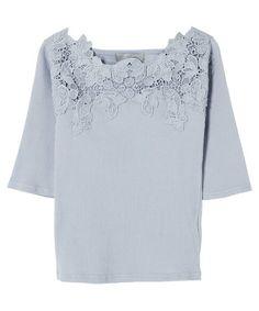 スカラップレースカットソー(Tシャツ/カットソー)|dazzlin(ダズリン)のファッション通販 - ZOZOTOWN