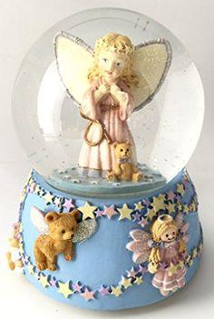Baby Guardian Angel Musical Snow Globe. #SnowGlobe #Snow #Globe #Gift #gosstudio .★ We recommend Gift Shop: http://www.zazzle.com/vintagestylestudio ★