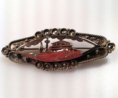 VICTORIAN Bar Pin Brooch Cutwork Asian by thepopularjewelry, $75.00