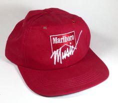 Marlboro Music Trucker Hat Baseball Cap Adjustable Red Tobacco Logo Cigarette #Marlboro #BaseballCap