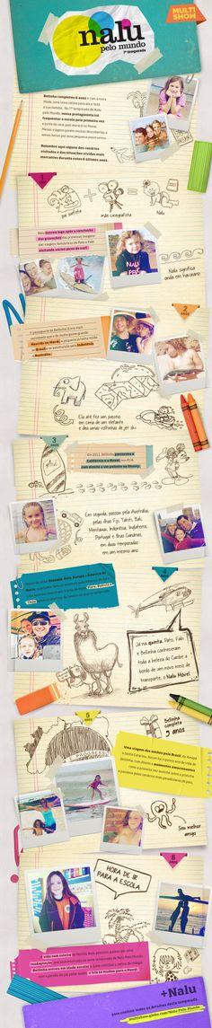 Para divulgar 7ª temporada de Nalu pelo Mundo, a Skidun criou um infográfico incrível, relembrando alguns momentos do programa e da vida da pequenina Nalu, protagonista da série.