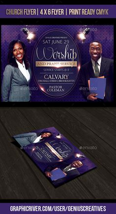 Buy Worship Church Flyer Template by GeniusCreatives on GraphicRiver. Worship Church Flyer Template Great vivid design that is suitable to promote your church event, Gospel Concert, or co. Church Graphic Design, Church Design, Graphic Design Projects, Fashion Design Template, Flyer Design Templates, Flyer Template, Gospel Concert, Pastor Anniversary, Flyer Free