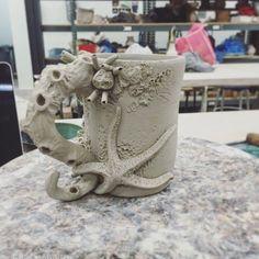Bringing the ocean to the studio. by ceramicjules