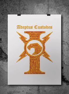 Adeptus Custodes Warhammer 40K Printable Poster by ZsaMoDesign