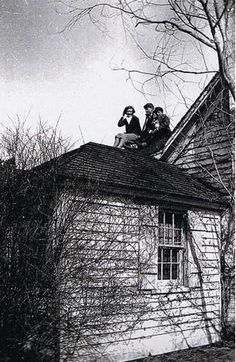 Little Edie and her brothers, Bouvier (Buddy) and Phelan, Jr. relax on the roof of Grey Gardens Edie Bouvier Beale, Edie Beale, Edith Bouvier, Grey Gardens House, Gray Gardens, Autumn Garden, Garden S, Lily Pond, People Of Interest