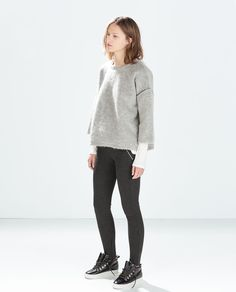 Image 1 of TROUSERS WITH ZIPS AND POCKETS from Zara