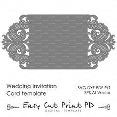 Invitación de la boda plantilla de tarjeta de por EasyCutPrintPD