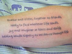 """brother sister tattoo designs 