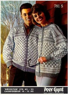 Livs Lyst: *BØVERTUN* With graph and pattern not in english Fair Isle Knitting Patterns, Knit Patterns, Ski Sweater, Sweater Cardigan, Knit Sweaters, Cardigans, Norwegian Knitting, Vintage Knitting, Knit Crochet