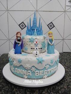#Top5 - Os mais belos bolos inspirados em Frozen, uma aventura congelante - Gisele Henriques Pop Notícias