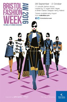 Illustration of fashion women walking