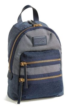 Marc by Marc Jacobs 'Mini Domo Arigato Packrat' Backpack - ShopStyle ShopStyle is where fashion happens. Find the latest couture and fashion designers while shopping for clothes, shoes, jewelry, wedding dresses and more! Backpack Craft, Chic Backpack, Denim Backpack, Backpack Outfit, Denim Bag, Backpack Bags, Fashion Backpack, Diaper Backpack, Travel Backpack