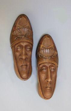Creative Shoe Face Sculptures