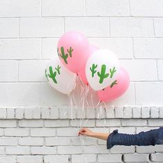 Celebrate summer and the southwest with our favorite saguaro - cacti balloons… Craft Party, Diy Party, Party Ideas, Cactus Balloon, Cactus Leaves, Going Away Parties, Creative Photography, Product Photography, Lifestyle Photography
