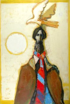 Portrait of Gentlemen with Bird, oil on panel. Simpson Galleries, 2008