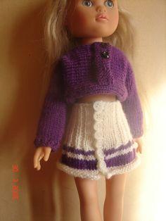 vêtements pour poupée chérie de corolle ensemble jupe + haut habits tricotés main : Jeux, jouets par nalisade