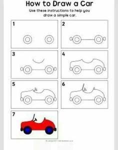 Cars drawings step by step road travel primary teaching resources amp car drawings step by step Drawing Lessons, Art Lessons, Easy Drawing Steps, How To Draw Steps, Step By Step Drawing, How To Draw Cars, Car Drawing Easy, Cartoon Car Drawing, Cars Cartoon