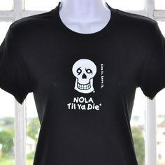 Women's Crew Crew Neck T-Shirt- Logo Front - Black
