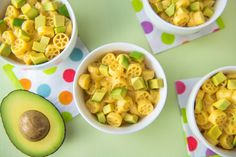 Let little hands get excited about dinner with #avocado, yes avocado mac 'n' cheese.