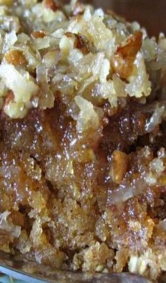 Lazy Day Oatmeal Cake ~ an old fashioned favorite that's moist, delicious, and easy to make Köstliche Desserts, Delicious Desserts, Yummy Food, Tasty, Non Dairy Desserts, Coconut Desserts, Plated Desserts, Cookies Et Biscuits, Lazy Cake Cookies