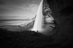 Seljalandsfoss waterfall bw | Flickr - Photo Sharing!