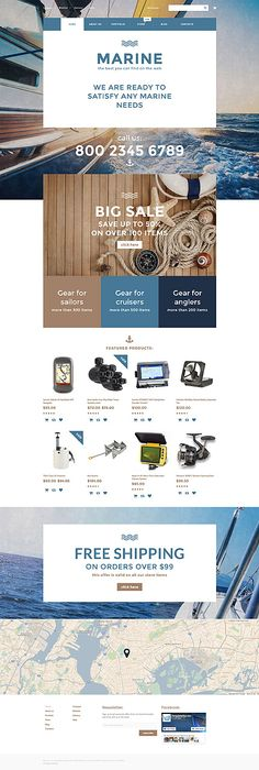 Marine Gear Online Store #WooCommerce #template. #themes #business #responsive #WooCommercethemes