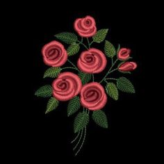 Machine Embroidery Design - bunch of roses