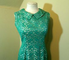 Vintage Lace dress 60s Jade Lace Mod dress   https://www.etsy.com/funkomavintage/listing/496574664/vintage-lace-dress-60s-jade-lace-mod?