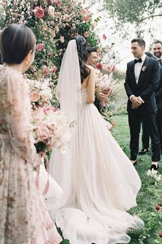 """The bride and groom said """"I do"""" in the serenity of @sanysidroranch's intimate flower garden and it's safe to say we are in floral heaven! 🌸 LBB Photography: @jenhuangbogan Florals: @camelliafloraldesign Planner: @alison_events Venue: @sanysidroranch Wedding Trends, Wedding Designs, Wedding Reception Decorations, Wedding Venues, The Wedding Date, Dream Wedding, Bridesmaid Dresses, Wedding Dresses, Alternative Wedding"""