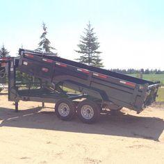 35833 Gooseneck DumpBox Trailer Edmonton area Trailer Sales, Trailers For Sale, Enclosed Cargo Trailers, Equipment Trailers, Dump Trailers, Midnight Blue, Monster Trucks, Box, Trailers