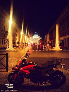 A night view of Vatican City! #motorcycle #tour #italy