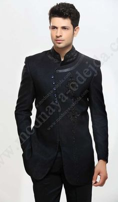 51 best mens party wear images in 2016 Men Fashion Show, Mens Fashion Suits, Men's Fashion, Fashion Trends, Mens Party Wear, Mens Fashion Sweaters, Indian Wedding Outfits, Mens Style Guide, Sherwani