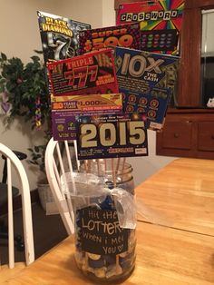 I hit the lottery when I met you! Lottery ticket bouquet