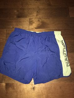 ad145f778d68d VTG Nautica Competition Swim Trunk Size XL Spell Out Big Logo 90s Bathing  Suit #Nautica #Competition
