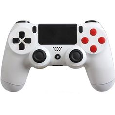 PlayStation 4 Dualshock 4 - Custom PS4 Controller with Glossy White Retro Shell