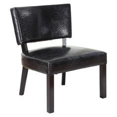 Crocodile Print Accent Chair Faux Leather -  Powell Company