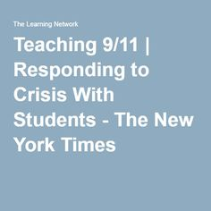 Teaching plans for teaching high school students about the devastating events of September 11, 2001. Ironically, many teenagers who are in high schools were either very young, or not yet born, at the time of the terrorist attacks. These plans provide an excellent way to teach about terrorism, crisises, and the changes America went through due to these events.