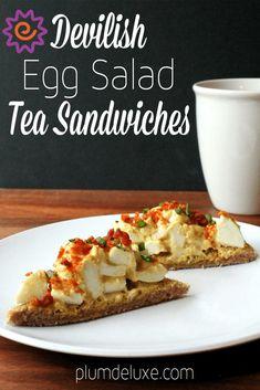 egg salad tea sandwich recipe Brunch Recipes, Snack Recipes, Snacks, Salad Recipes, Best Sandwich, Sandwich Recipes, Recipe Using Hard Boiled Eggs, Egg Salad Sandwiches, Yummy Appetizers