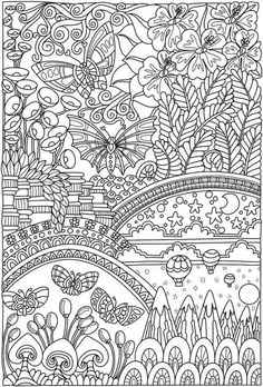 Welcome to Dover Publications - CH Entangled Butterflies Adult Coloring Book Pages, Cute Coloring Pages, Mandala Coloring Pages, Free Coloring, Coloring Sheets, Coloring Books, Dover Coloring Pages, Detailed Coloring Pages, Butterfly Coloring Page