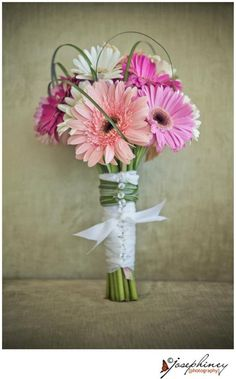 Gerber bouquet - love the different colors of the flowers