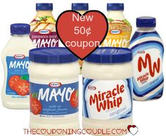 Do you have enough Kraft Mayo or Miracle Whip in your pantry or fridge? Be sure to print the new $0.50/1 Kraft Mayo or Miracle Whip coupon to stock your shelves!   Click the link below to get all of the details ► http://www.thecouponingcouple.com/new-0-50-kraft-mayo-or-miracle-whip-coupon-cheap-deals/  #Coupons #Couponing #CouponCommunity  Visit us at http://www.thecouponingcouple.com for more great posts!