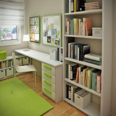 Cool Kids Room Designs Ideas For Small Spaces:  Small Space Kids Room Photo 2: Children's Study