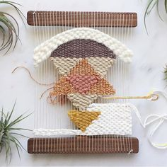 Madison, WI Weaving Workshop Feb 20th, 2016 by Melissa Jenkins Designs // Woven Wall Hanging In Progress
