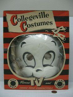Vintage Collegeville Casper The Friendly Ghost Halloween Costume #216 KIDS #Collegeville #Halloween Ghost Halloween Costume, Halloween Masks, Casper The Friendly Ghost, Kids, Character, Vintage, Young Children, Boys, Children