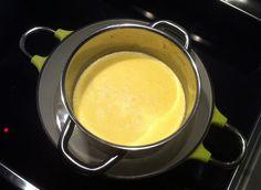 How to make your own kajmak. Whole milk, cream, salt, heat, time.