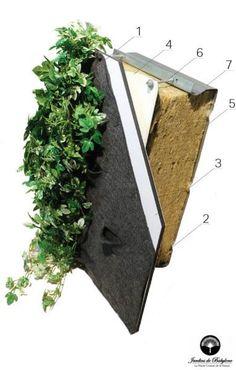 Mur végétal isolant
