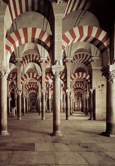Interior of the Great Mosque in Córdoba, Spain.  Photo: Dusky Pierce