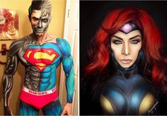 When an artist turns himself into superheroes thanks to body painting (image)